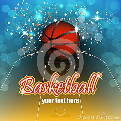 Basketball background with balls