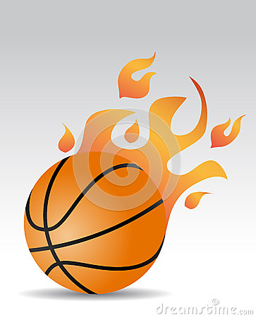 Basketball ball fire