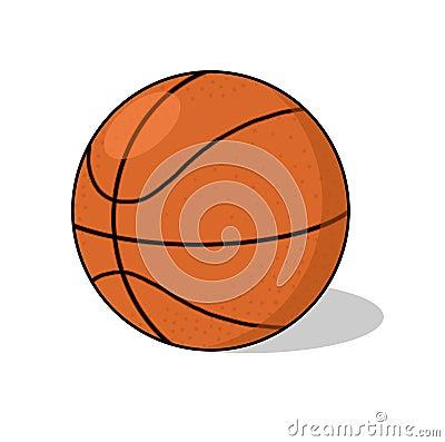 Basketball ball illustration
