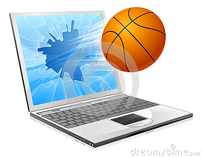 Basketball ball laptop concept