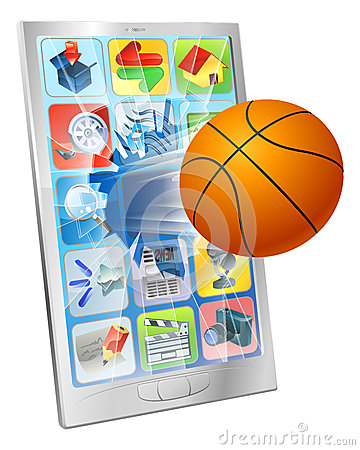 Basketball ball mobile phone