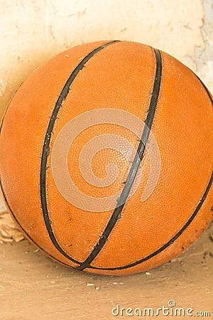 Basketball ball over floor.