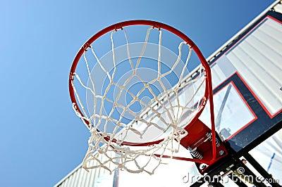 Outdoor basketball playground