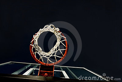 Basketball Basket Below