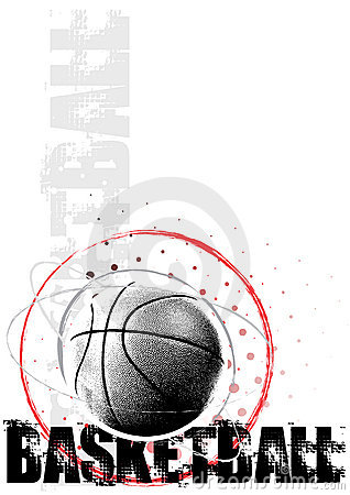 Basketball circle poster background