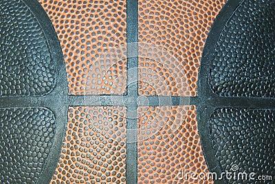 Basketball closeup , texture