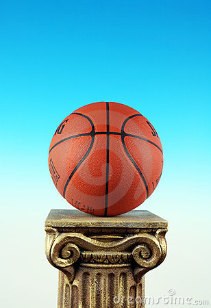 Basketball On Column Pedestal, Symbol of Win and Winners