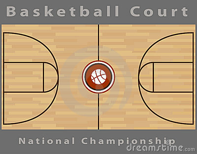Basketball court royalty free stock photos image 15340938 for Average basketball court size