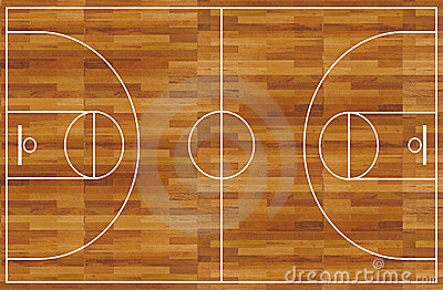 Basketball Court Royalty Free Stock Image - Image: 5186616