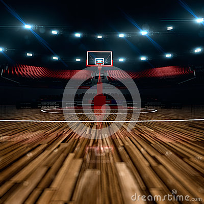 Free Basketball Court. Sport Arena. Royalty Free Stock Photos - 57409138