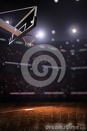 Free Basketball Court With People Fan 3d Render Background Royalty Free Stock Photo - 109943885