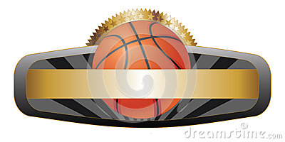 Basketball Design Emblem Banner
