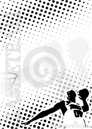 Basketball dots poster background