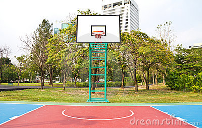 Basketball field.