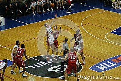 Basketball game in Milan Editorial Stock Image