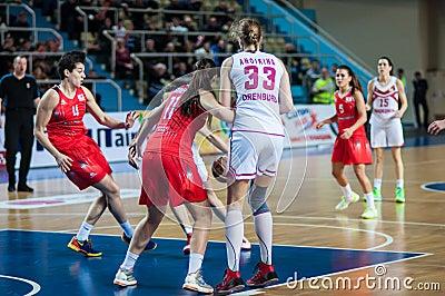 Basketball game Russia Spain