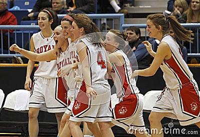 Basketball girls celebration