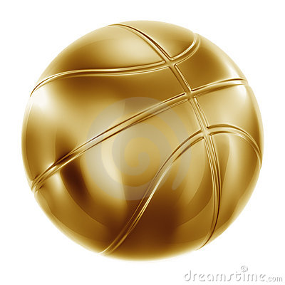 Basketball In Gold Stock Image - Image: 10302651