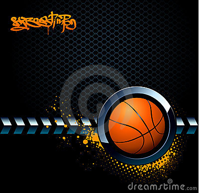 Free Basketball Grunge Background Stock Photography - 9420412