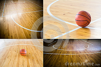 Basketball in the gym