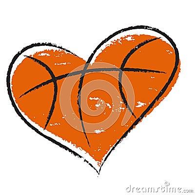 Free Basketball Heart Royalty Free Stock Image - 29485016