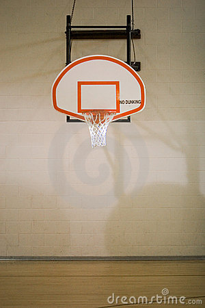 Free Basketball Hoop And Court Royalty Free Stock Images - 2588269