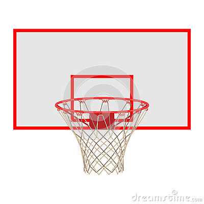 Free Basketball Hoop On Backboard Isolated On White Background Royalty Free Stock Photo - 89954095