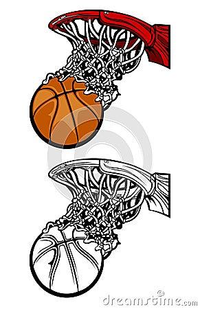 Basketball Hoop Silhouettes