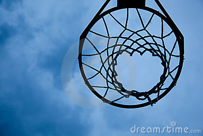 Basketball Hoop On Sky Background Royalty Free Stock Photography ...
