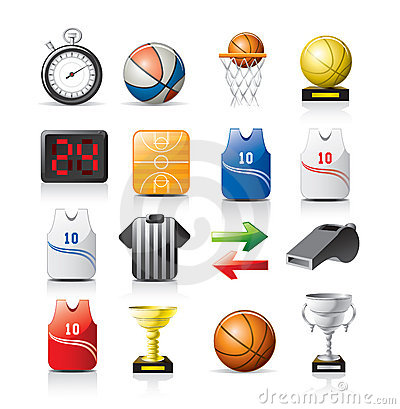 Free Basketball Icons Stock Images - 9668724
