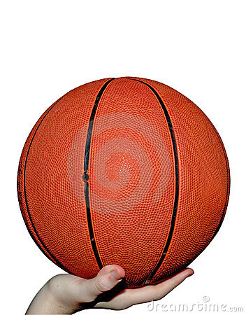 Free Basketball In Hand Stock Image - 1728571