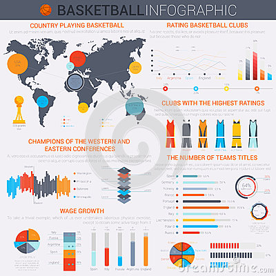 Infographic Ideas infographic basketball : Basketball Infographic For Your Design Stock Vector - Image: 64827522