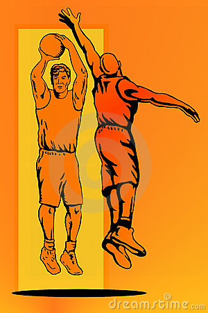 Free Basketball Jump Block Colour Royalty Free Stock Photo - 2345545