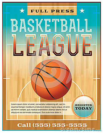 Free Basketball League Flyer Royalty Free Stock Images - 35420049