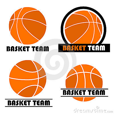 Basketball logo set