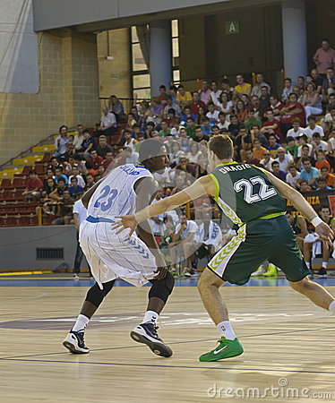 Basketball match, Cup Andalucia 2012 Editorial Stock Image