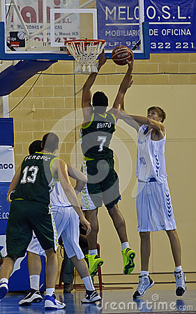 Basketball match, Cup Andalucia 2012 Editorial Photography