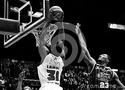 Basketball milano Editorial Stock Photo