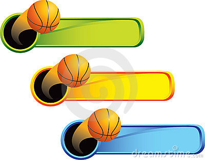 Basketball on multicolored tabs