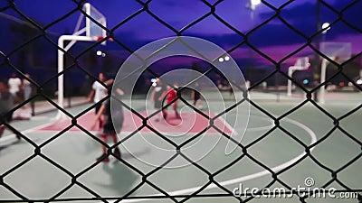 Basketball nachts stock video