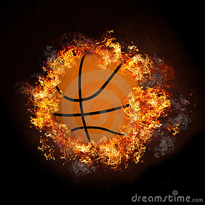 Free Basketball On Hot Fire Smoke Stock Photo - 16200560