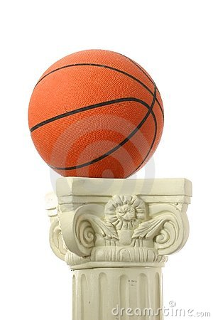 Basketball  on pedestal II