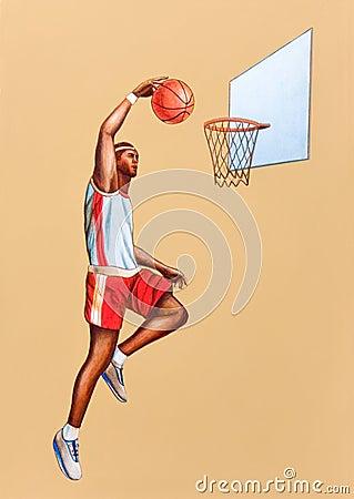 Free Basketball Player Royalty Free Stock Photo - 1083985