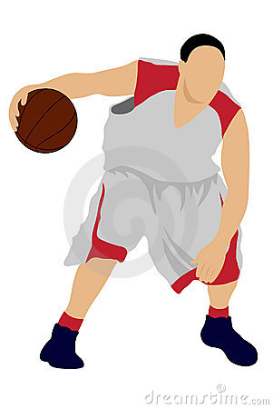 basketball player silhouette. BASKETBALL PLAYER