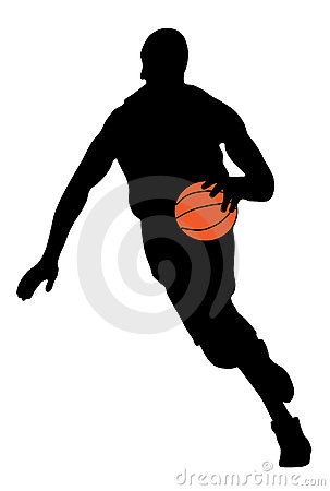 basketball player silhouette. BASKETBALL PLAYER (click image
