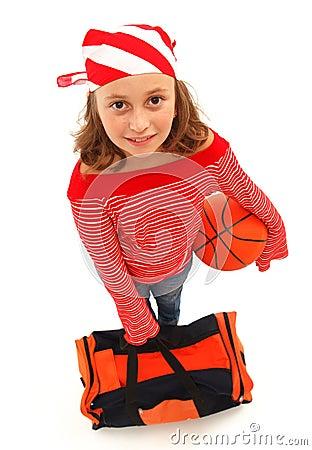 Basketball player girl