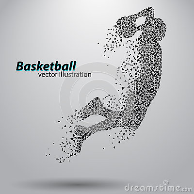 Free Basketball Player Of The Triangles. Stock Images - 81671114