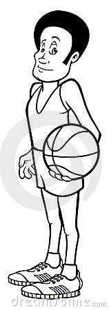Basketball Player outline