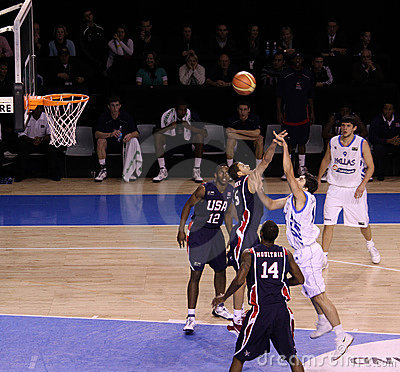 Basketball player rebounding Editorial Photography