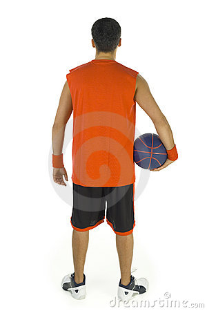 Free Basketball Player S Back Stock Photography - 3776582